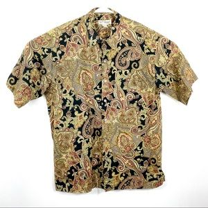 Tori Richard Mens L Button Front Hawaiian shirt L